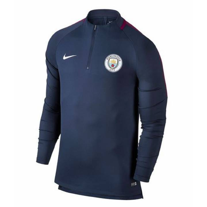 Nike Manchester City Squad Drill Top 2017/18 - Navy- Mens Image