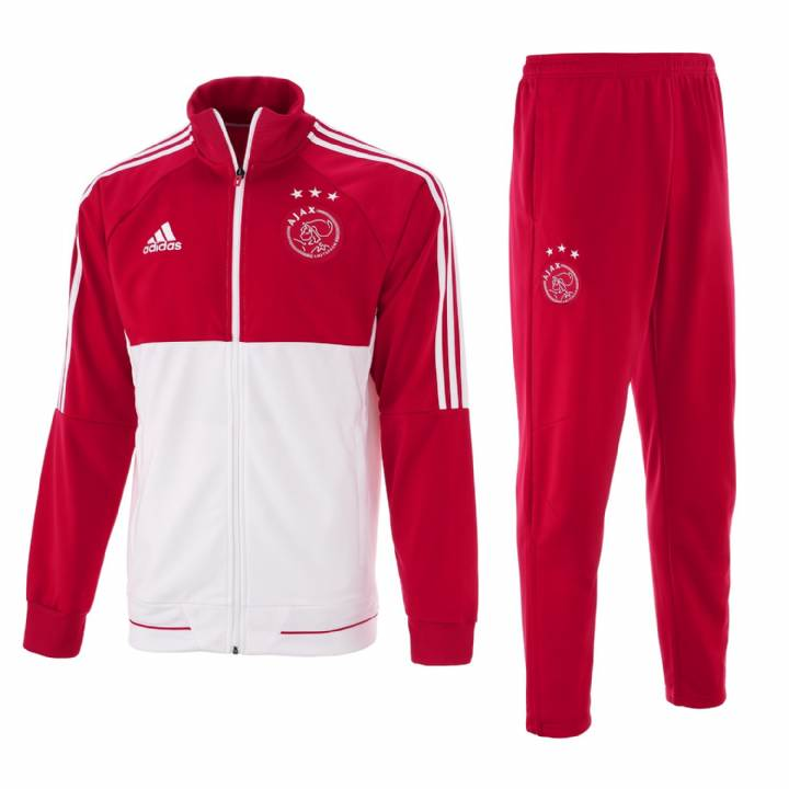 adidas Ajax Training Tracksuit 2017/18 - Red - Mens Image