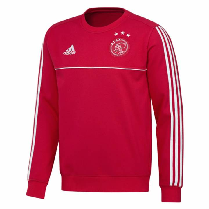 adidas Ajax Training Sweat Top 2017/18 - Red - Mens Image