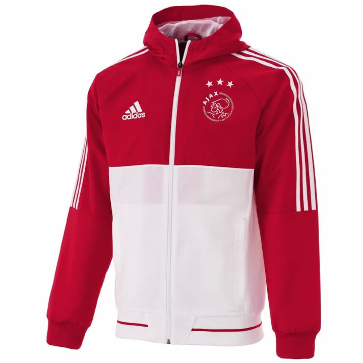 adidas Ajax Training Presentation Jacket 2017/18 - Red - Mens Image