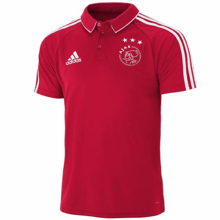 adidas Ajax Training Polo Shirt 2017/18 - Red - Mens Image