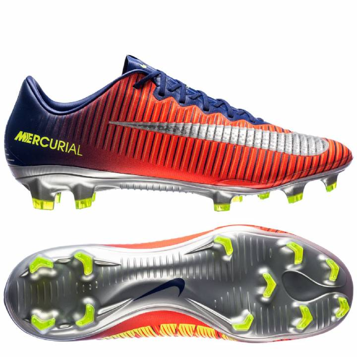 Nike Mercurial Vapor XI Firm Ground Football Boots - Deep Royal Blue/Chrome/Total Crimson	 Image