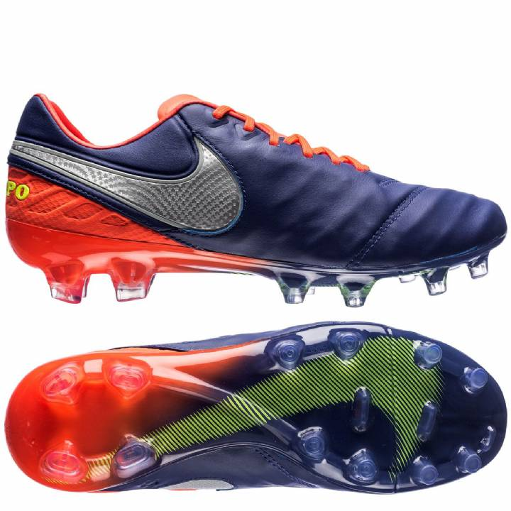 Nike Tiempo Legend VI Firm Ground Football Boots - Deep Royal Blue/Chrome/Total Crimson Image