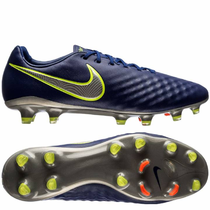 Nike Magista Opus II Firm Ground Football Boots - Deep Royal Blue/Chrome/Total Crimson