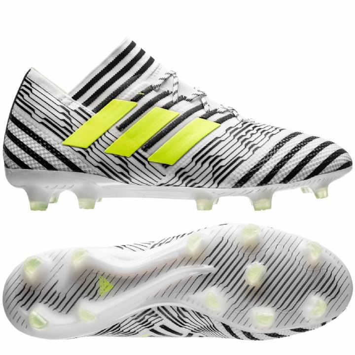 adidas Nemeziz 17.1 Firm Ground Football Boots - White/Solar Yellow/Core Black