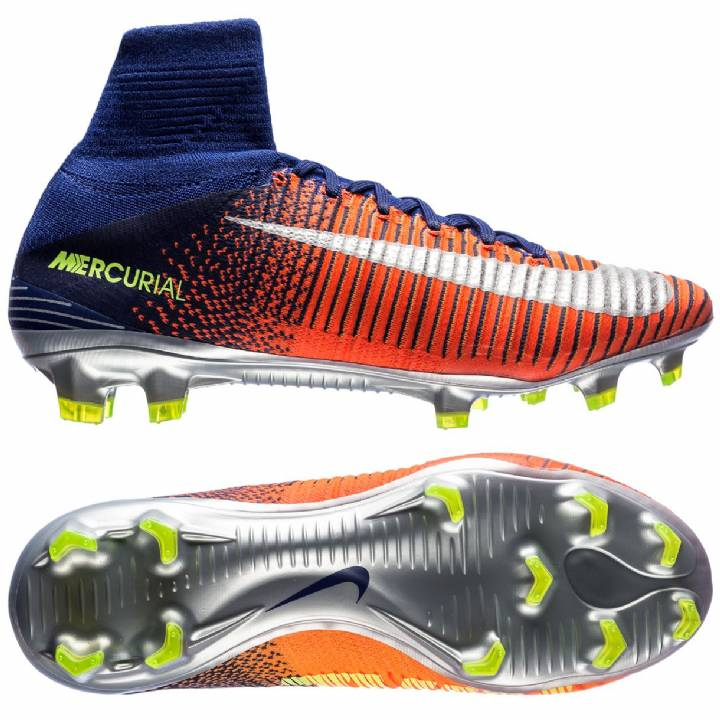 Nike Mercurial Superfly V Firm Ground Football Boots - Deep Royal Blue/Chrome/Total Crimson Image