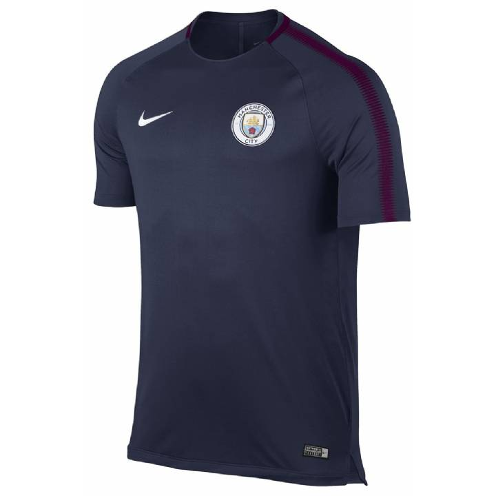 Nike Manchester City Squad Training Shirt 2017/18 - Navy -Mens Image
