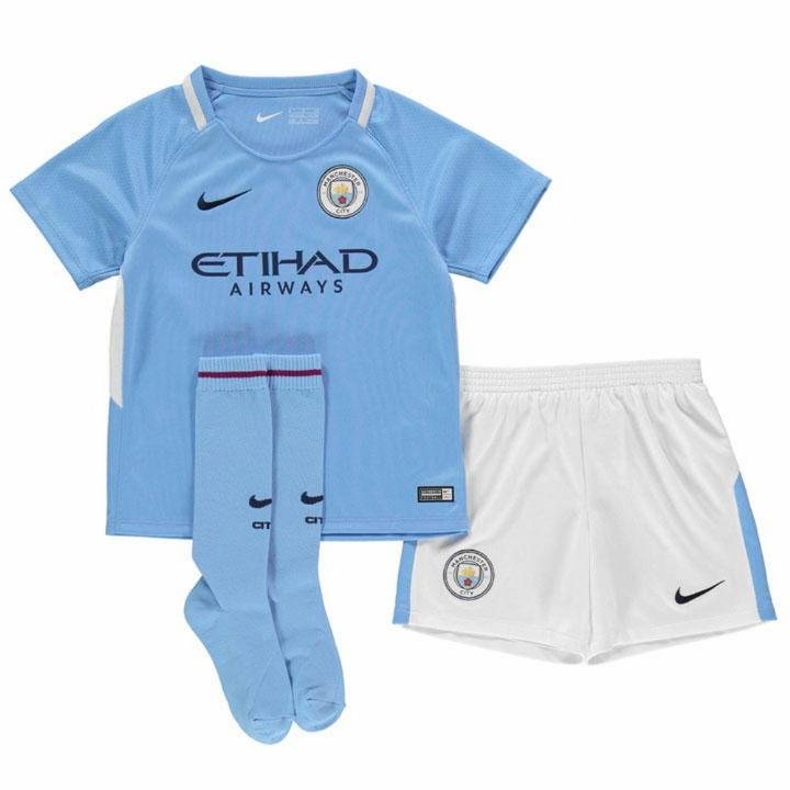 Nike Manchester City Home Kit 2017/18 - Little Kids Image