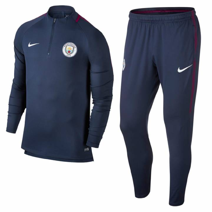 Nike Manchester City Training Squad Drill Tracksuit 2017/18  - Navy - Kids Image