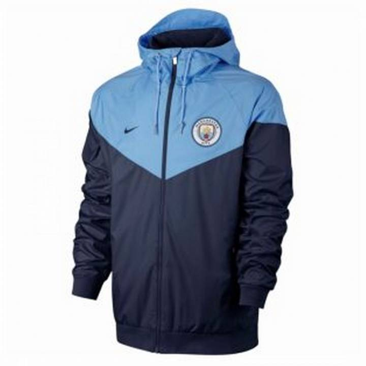 Nike Manchester City Authentic Windrunner Jacket 2017/18 - Navy - Mens Image