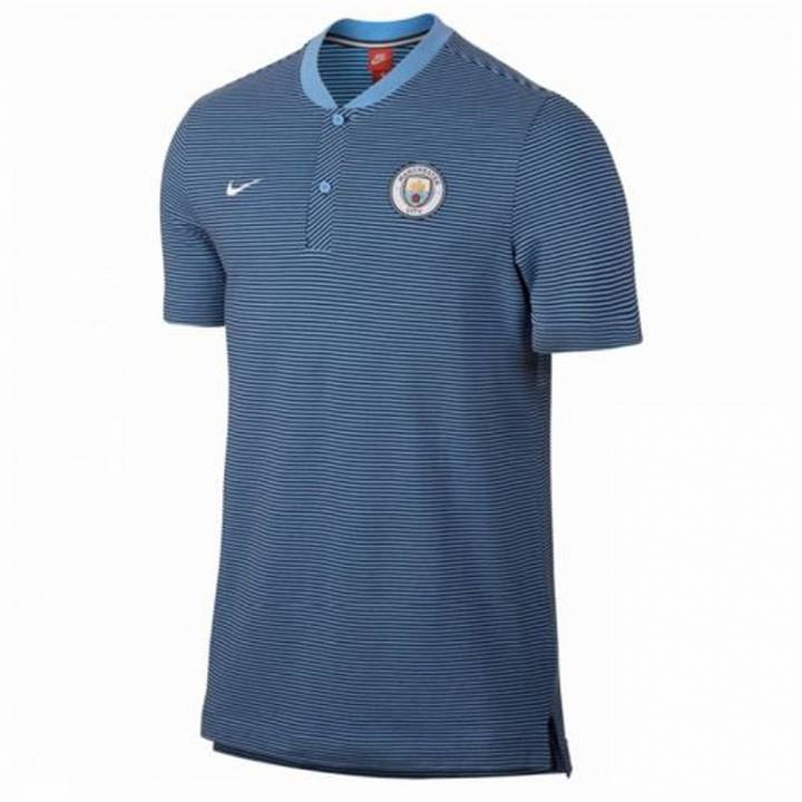 Nike Manchester City Authentic Grand Slam Polo 2017/18- Blue - Mens Image