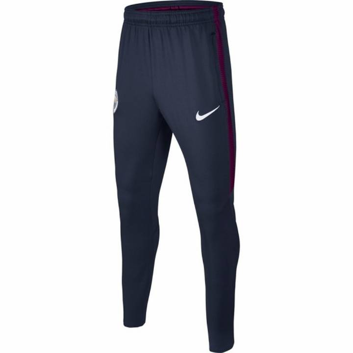 Nike Manchester City Squad Training Pants 2017/18- Navy - Mens Image
