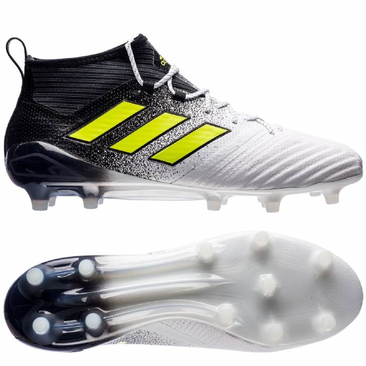 adidas Ace 17.1 Firm Ground Football Boots - White/Solar Yellow/Core Black Image