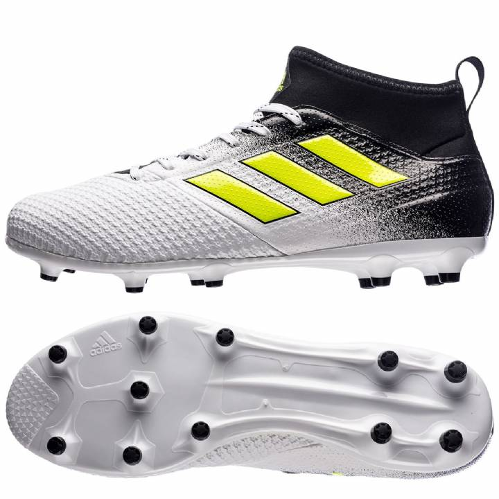 adidas Ace 17.3 Firm Ground Football Boots - White/Solar Yellow/Core Black Image