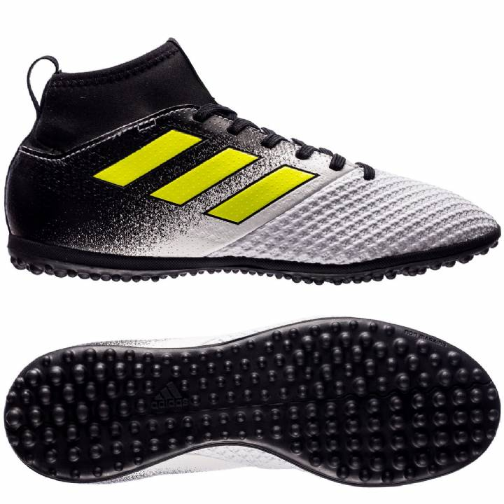 adidas Ace Tango 17.3 Astroturf Trainers - White/Solar Yellow/Core Black - Kids Image