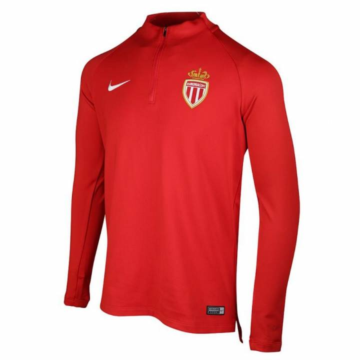 Nike AS Monaco Training Squad Drill Top 2017/18  - Red - Mens Image