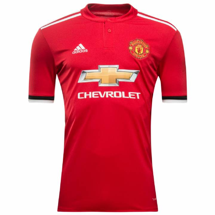 adidas Manchester United Home Shirt 2017/18 - Mens Image