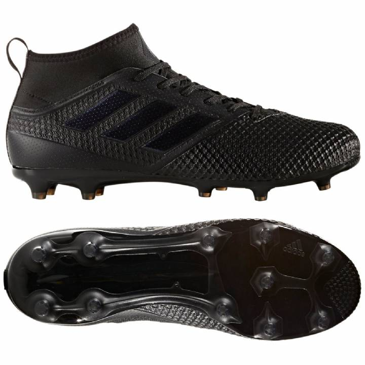 adidas Ace 17.3 Firm Ground Football Boots - Core Black/Core Black/Utility Black