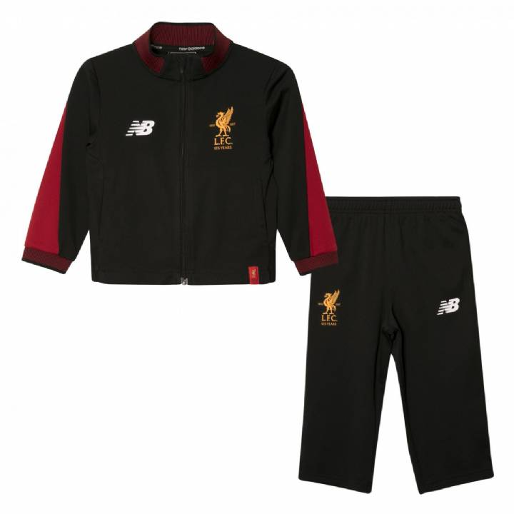 New Balance Liverpool Training Presentation Tracksuit 2017/18 -Black- Kids Image