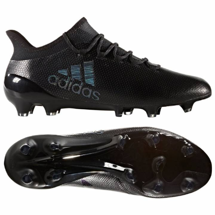 adidas X 17.1 Firm Ground Football Boots - Core Black/Core Black/Utility Black