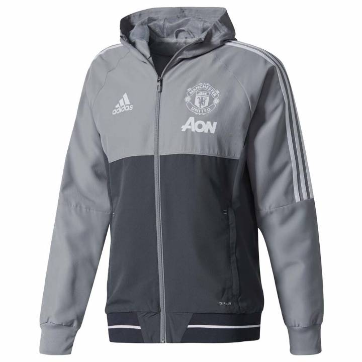 adidas Manchester United Training Presentation Jacket  2017/18 - Grey - Mens Image