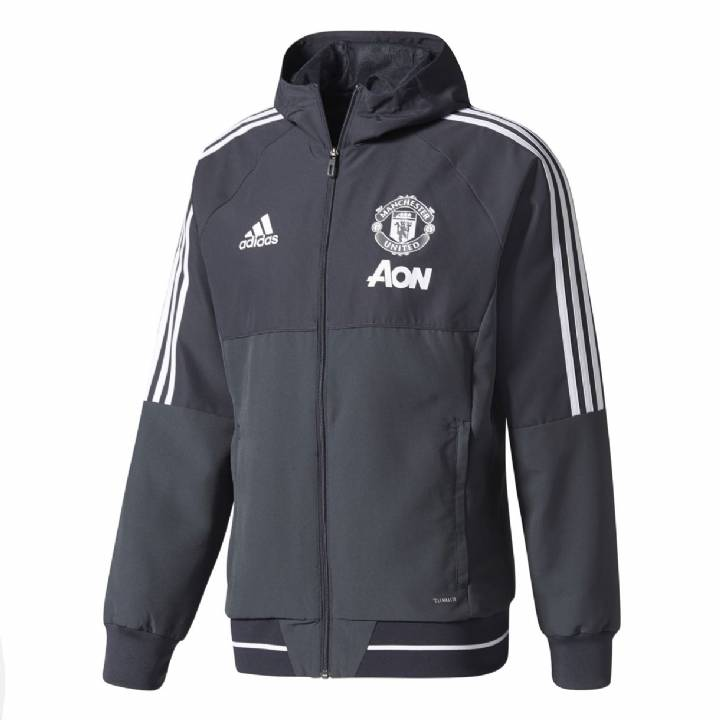 adidas Manchester United Training Presentation Jacket 2017/18- Dark Grey - Mens Image