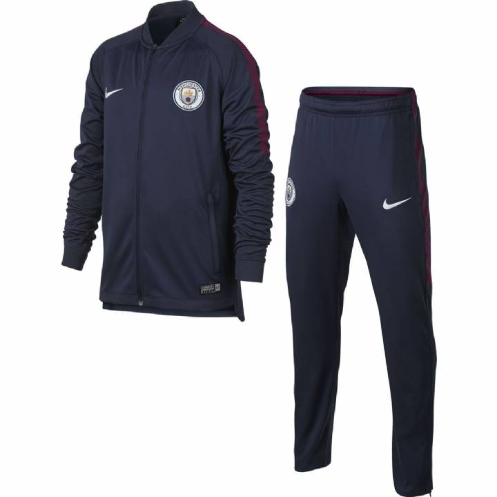 Manchester City Squad Training Tracksuit 2017/18 - Navy - Kids Image