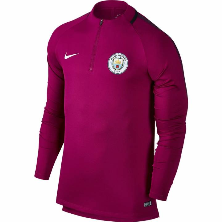 Nike Manchester City Squad Drill Top 2017/18 - Maroon - Mens Image