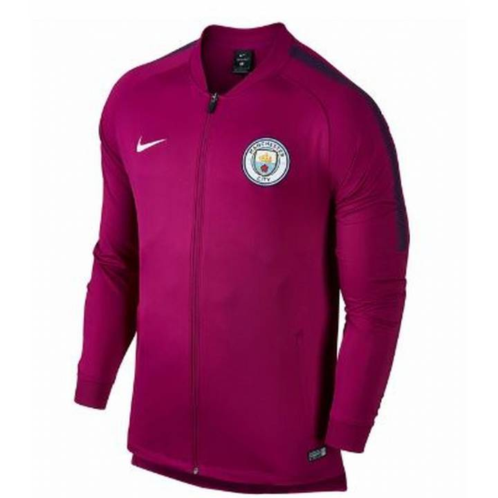 Nike Manchester City Training Squad Track Jacket 2017/18 - Maroon - Mens Image