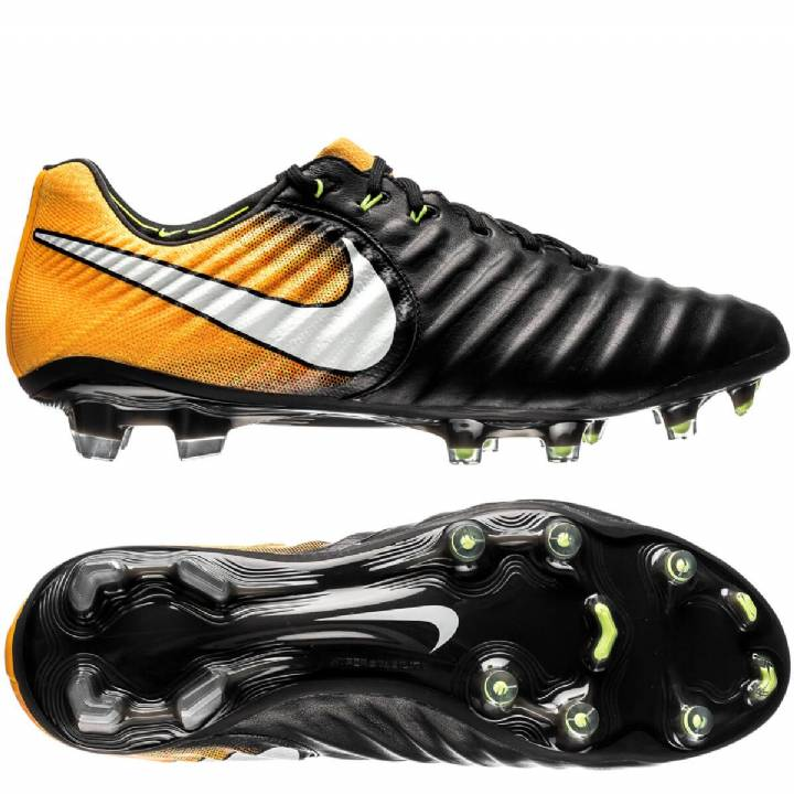 Nike Tiempo Legend VII Firm Ground Football Boots - Black/White/Laser Orange/Volt Image