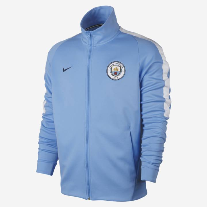 Nike Manchester City Franchise Jacket 2017/18 - Light Blue - Mens Image