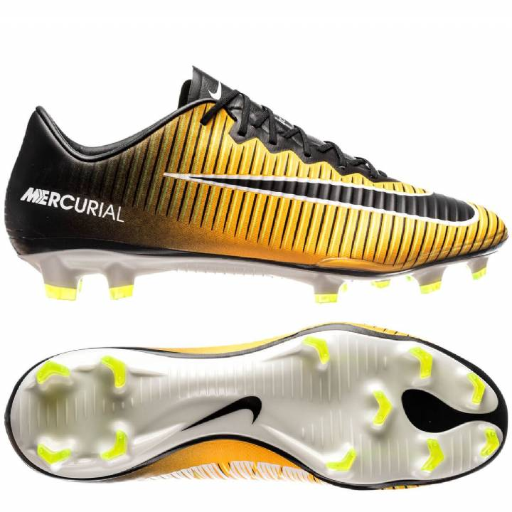 Nike Mercurial Vapor XI Firm Ground Football Boots - Laser Orange/Black/White/Volt Image