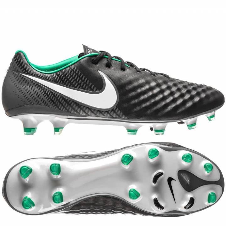 Nike Magista Opus II Firm Ground Football Boots - Black/White/Dark Grey Image
