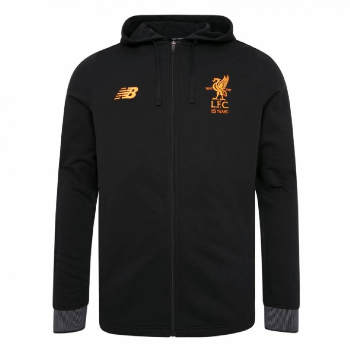 New Balance Liverpool Training Travel Hoody 2017/18- Black - Kids Image