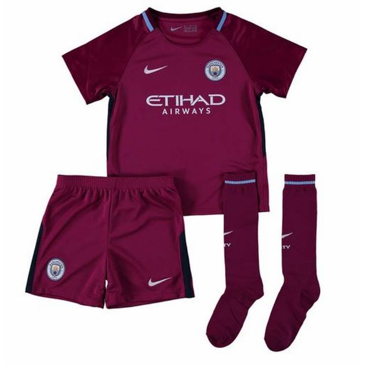 Nike Manchester City Away Kit 2017/18 - Little Kids Image