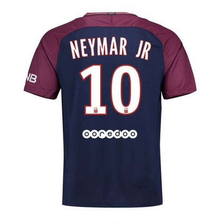 Nike Paris Saint Germain Home Shirt 2017/18 Neymar JR 10 - Mens Image