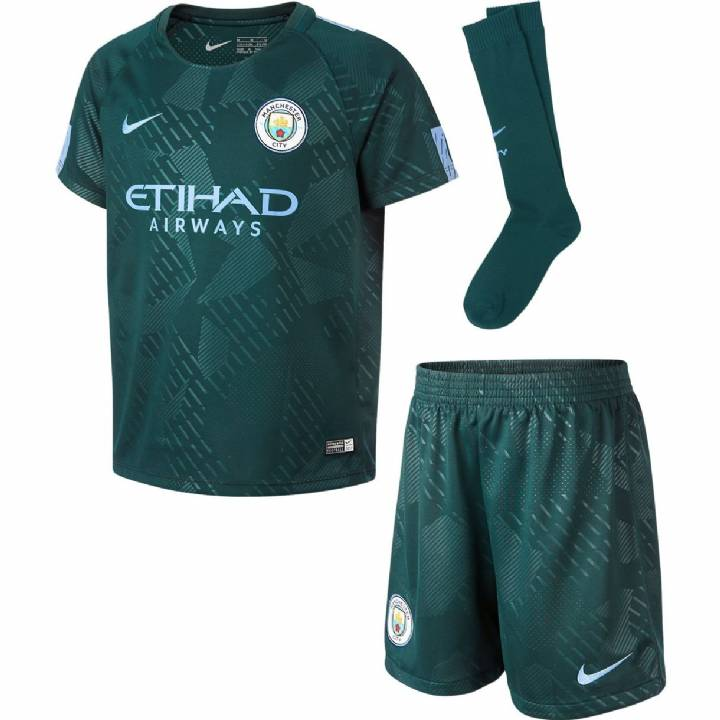 Nike Manchester City Third Kit 2017/18 - Little Kids Image