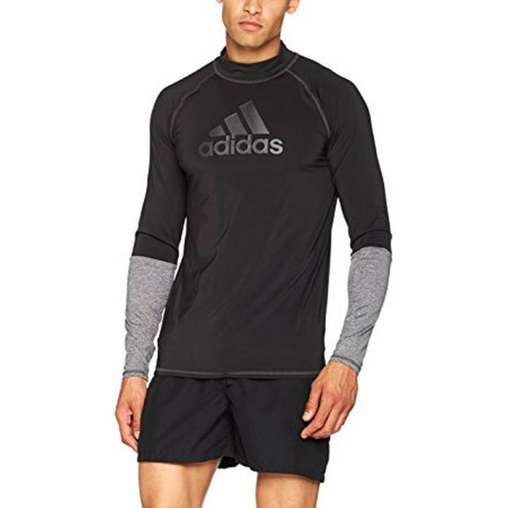 adidas Running Fitness Gym Training Long Sleeve Top - Black - Mens Image