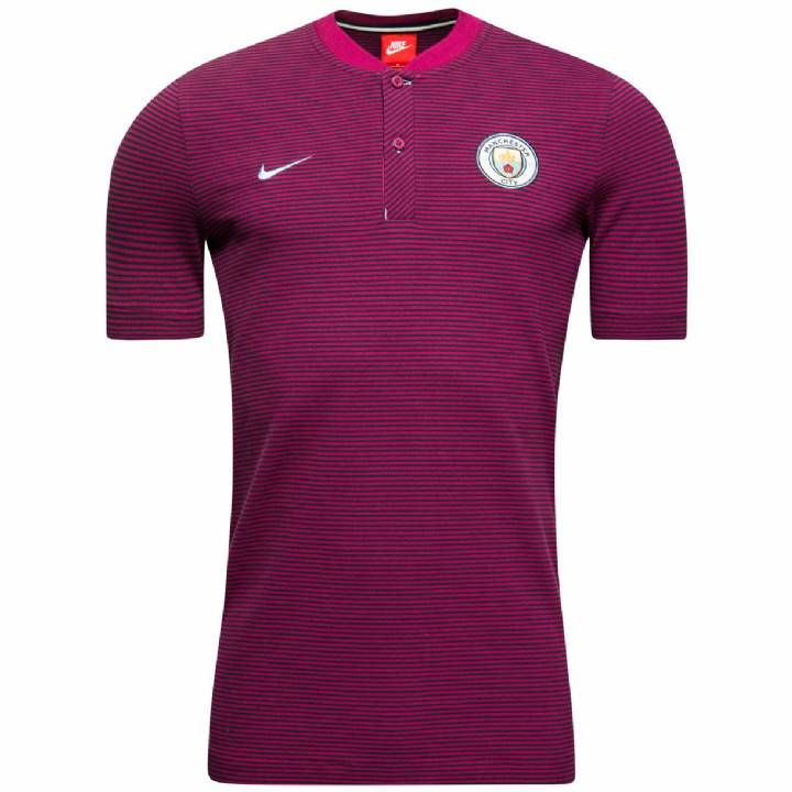Nike Manchester City Authentic Grand Slam Polo Shirt 2017/18 - Maroon Image