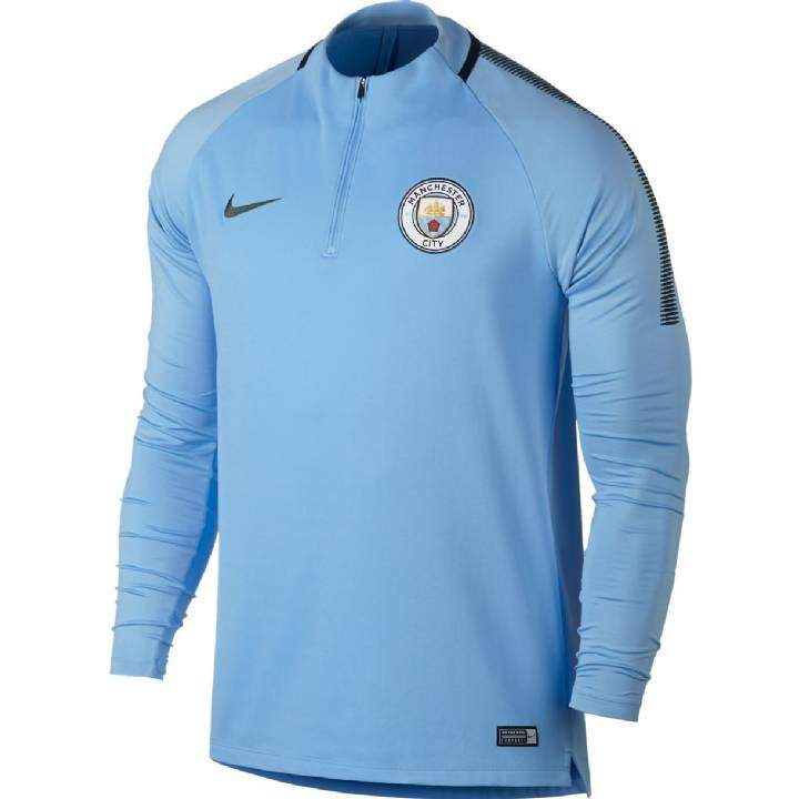 Nike Manchester City Training Squad Drill Top 2017/18 - Light Blue - Mens Image