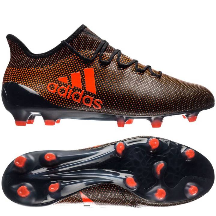 adidas X 17.1 FG Firm Ground Football Boots - Core Black/Solar Red/Solar Orange