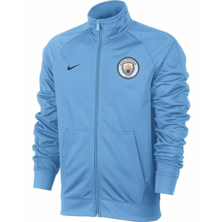 Nike Manchester City Core Track Jacket 2017/18 - Light Blue - Mens Image