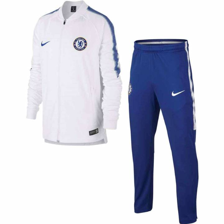Nike Chelsea Squad Training Knit Tracksuit 2017/18 - White - Kids Image