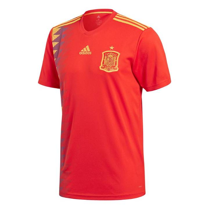 adidas Spain Home Shirt 2017/18 - Mens Image