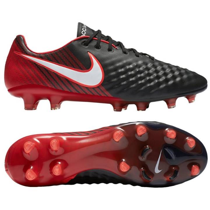Nike Magista Opus II Firm Ground Football Boots  - Black/University Red/Bright Crimson/White Image