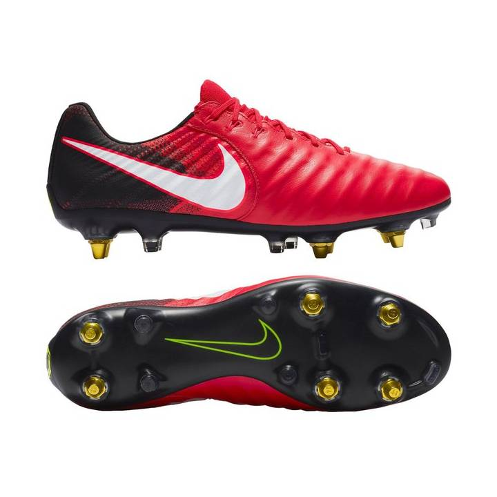 Nike Tiempo Legend VII Anti-Clog Soft Ground Pro Football Boots -  University Red/Black Image