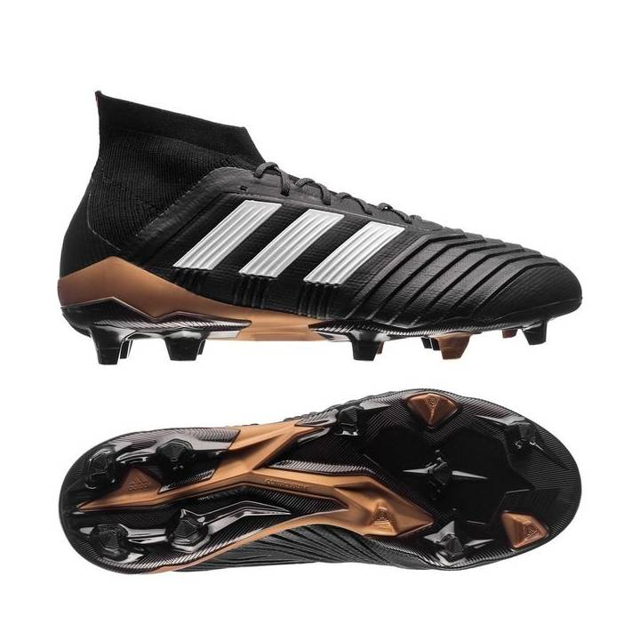 adidas Predator 18.1 Firm Ground Football Boots - Core Black/Footwear White/Metallic Gold