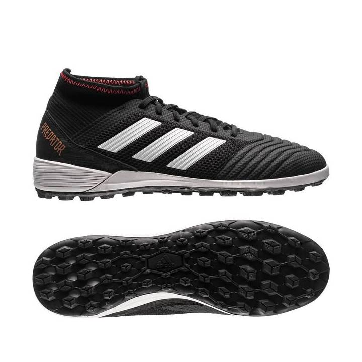 adidas Predator Tango 18.3 Astroturf Trainers - Core Black/Footwear White/Solar Red Image