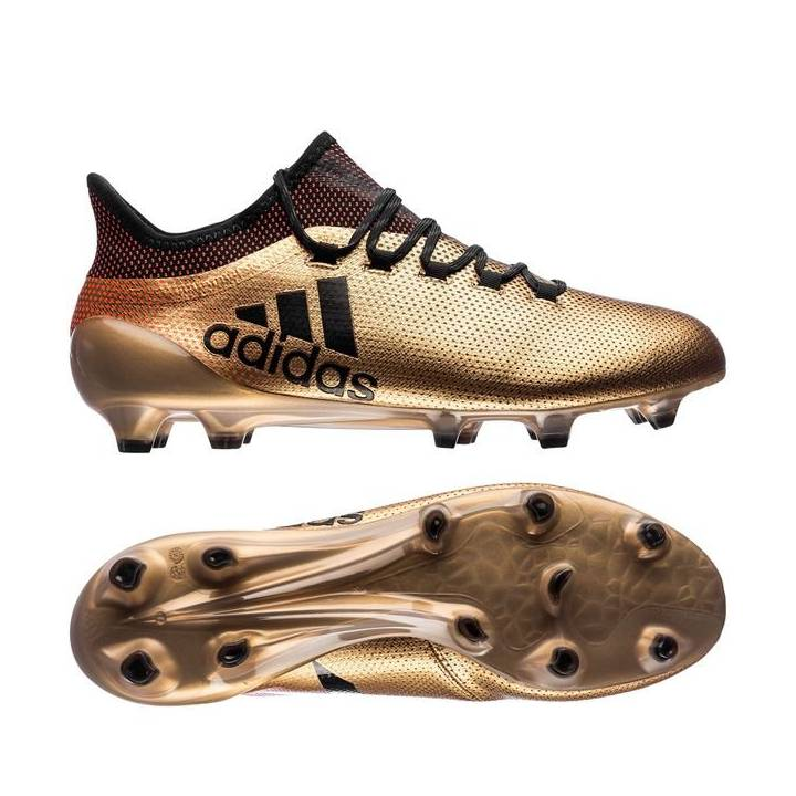 adidas X 17.1 Firm Ground Football Boots - Tactile Gold Metallic/Core Black/Solar Red Image