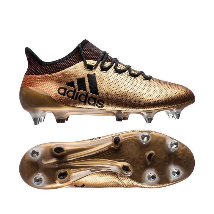 adidas X 17.1 Soft Ground Football Boots - Tactile Gold Metallic/Core Black/Solar Red
